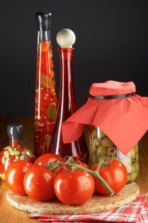 useful: still life with tomatoes Stock Photo