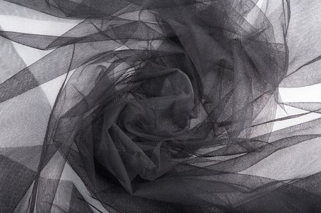 abstract background black veil fabric with waves