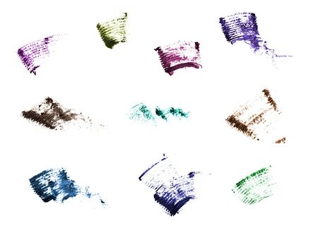 track of mascara on the white background Stock Photo