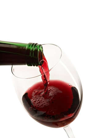 still life with red wine on the white background Stock Photo - 2956683