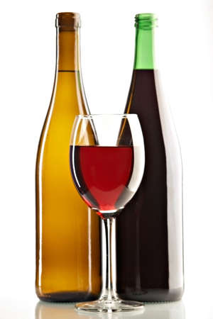 still life with red and white wines on the white background Stock Photo - 2956679