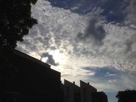 Zon barsten door de wolken Stockfoto - 22237207