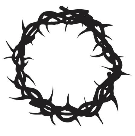 イエスは十字架につけられたときに着ていたようなイバラの冠  イラスト・ベクター素材