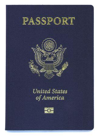 passeport: un tout nouveau type de passeport am�ricain avec puce �lectronique Banque d'images
