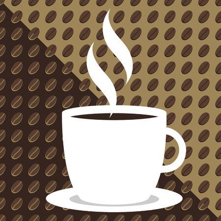 Naadloze tileable zoete Koffie achtergrond Stock Illustratie