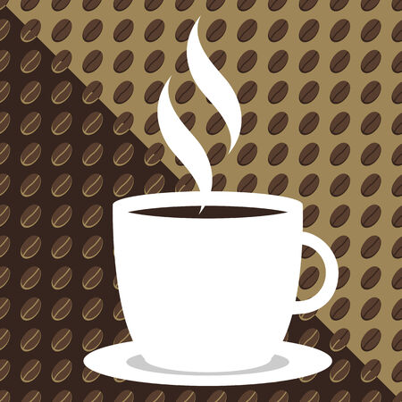 tileable: Seamless tileable sweet Coffee background Illustration