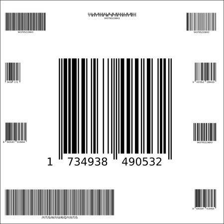 tien monster vector barcodes Stock Illustratie