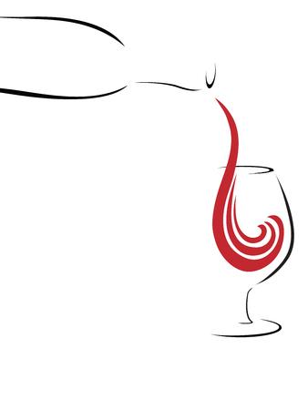 Splash of Wine, abstract 向量圖像