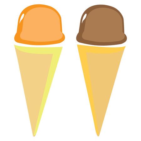 Ensemble de crème glacée Banque d'images - 77974777