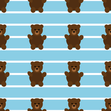 Motif d'ours en peluche bleu