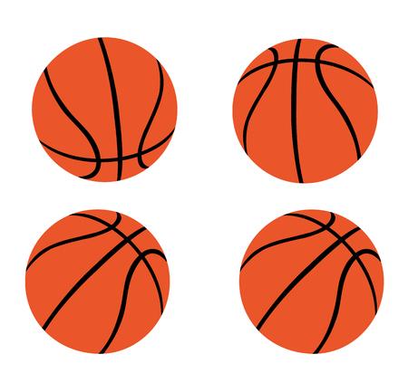 Set of Orange Basketballs
