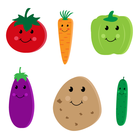 Cartoon vegetable cute characters