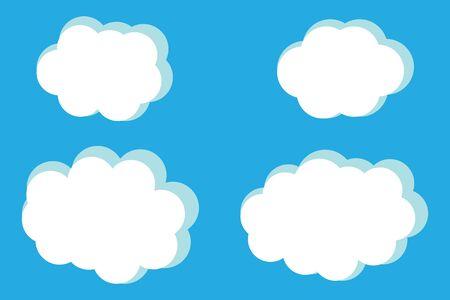 Vector illustratie van wolken collectie.