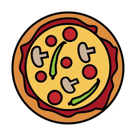 Illustration of tasty pizza.