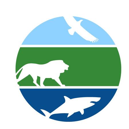 Animal fitness design emblem