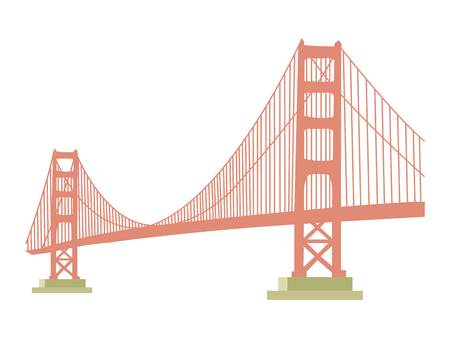 Golden Gate bridge icon vector illustration.
