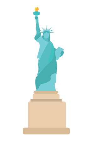 Isolated State of Liberty icon Illustration