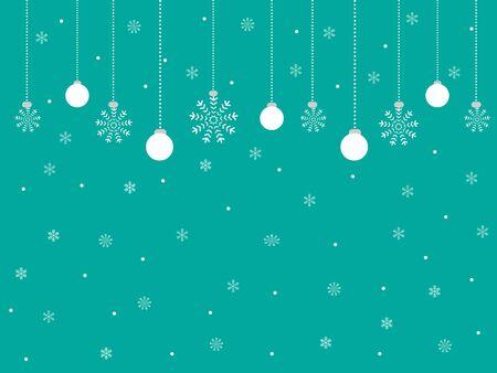 Winter Christmas background Vector illustration. Illustration