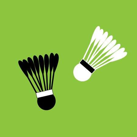 Badminton shuttlecocks icon Illustration