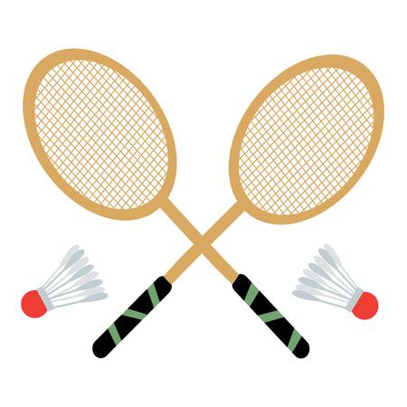Vector set of badminton rackets and shuttlecocks 向量圖像