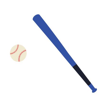 Vector illustration of bat and baseball