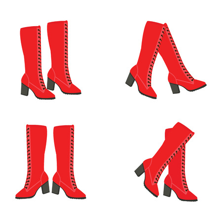 Vector red boots
