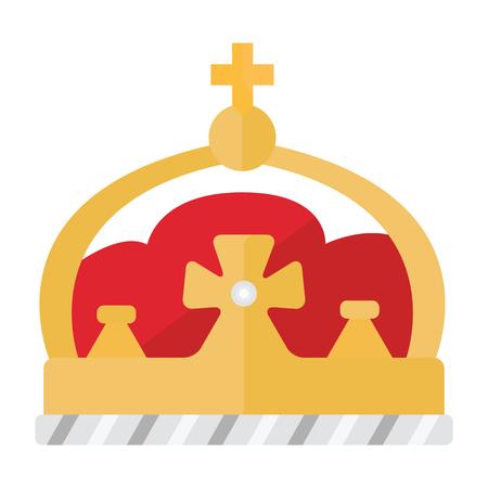 Cartoon crown on white background.