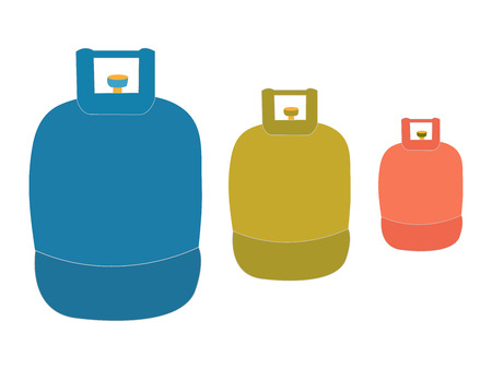 Liquid propane tank logo Illustration