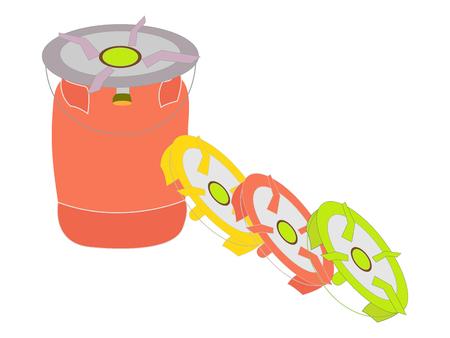 Liquid propane tank logo Illusztráció