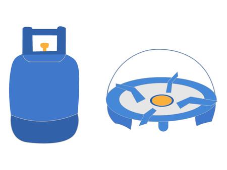 Liquid propane tank logo Ilustrace