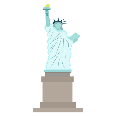 Vector image of the statue of Liberty Çizim