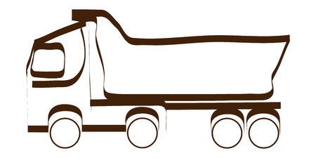 Stylized dump truck vector illustration