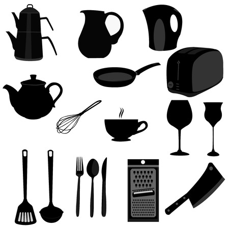 Illustration set of kitchen utensils