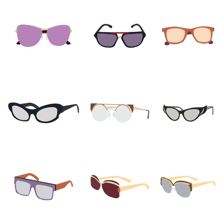 Vector collection of glasses of various designs 일러스트