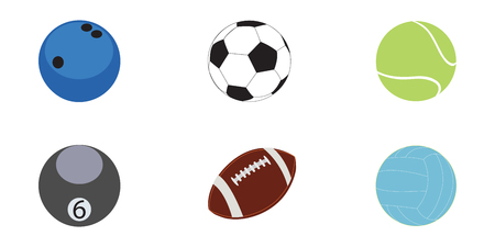 Set of balls for various sports