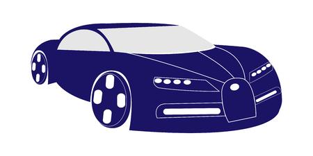 Dark blue super car illustration