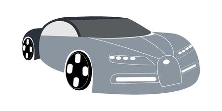Vector illustration of gray super car