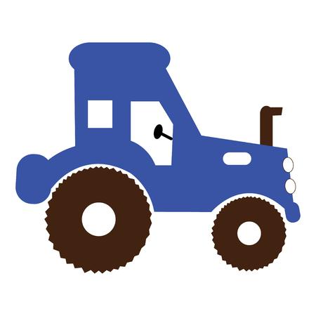 Basic illustration of a blue tractor Banque d'images - 126329338