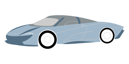 Vector illustration of a blue supercar