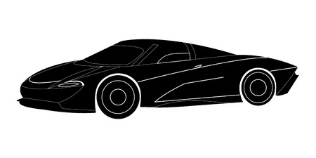 Vector illustration of a black supercar