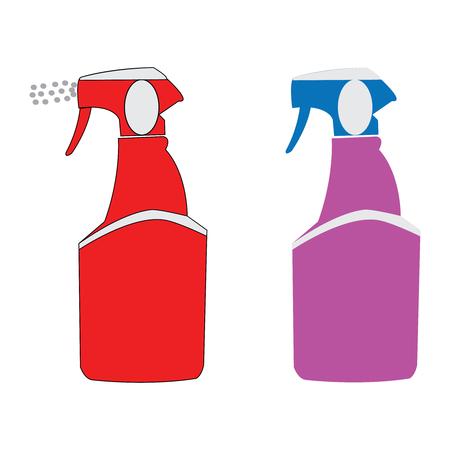 Vector illustration of two spray bottles