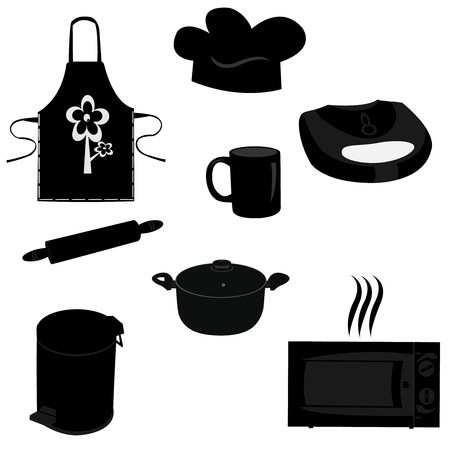 Illustration set of kitchen items