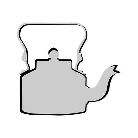 Illustration of old style tea pot