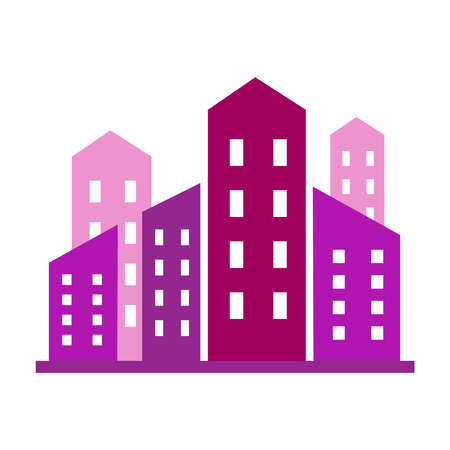 Modern building skyline vector illustration