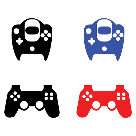 Vector illustration of video game controllers