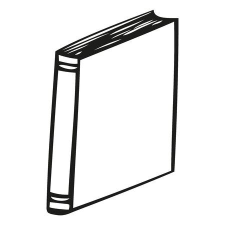 Book icon. Vector illustration