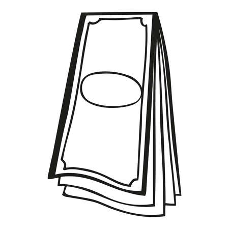 Paper collection of money pile vector art