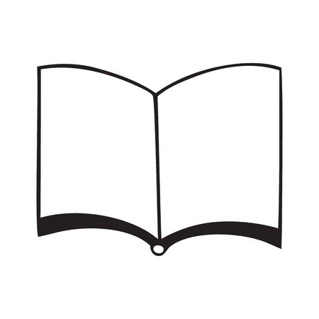 Open book icon isolated on white background Stock Illustratie