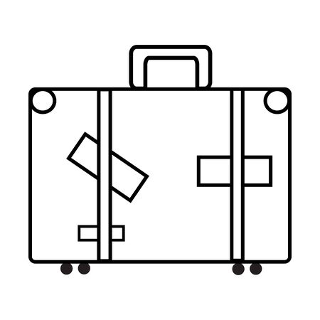 sketch of the suitcase on white background, isolated