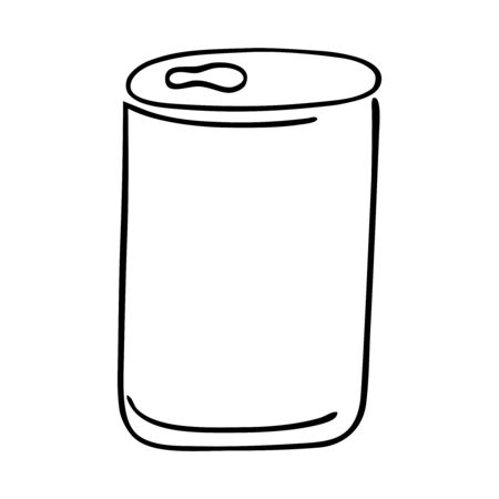 Black and whie soda can Stock Illustratie